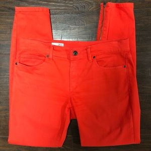 Gap Red jeans with zipper accents